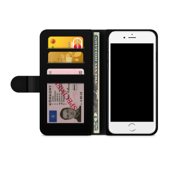 Bjornberry Plånboksfodral iPhone 5/5s/SE - Beautiful Skulls