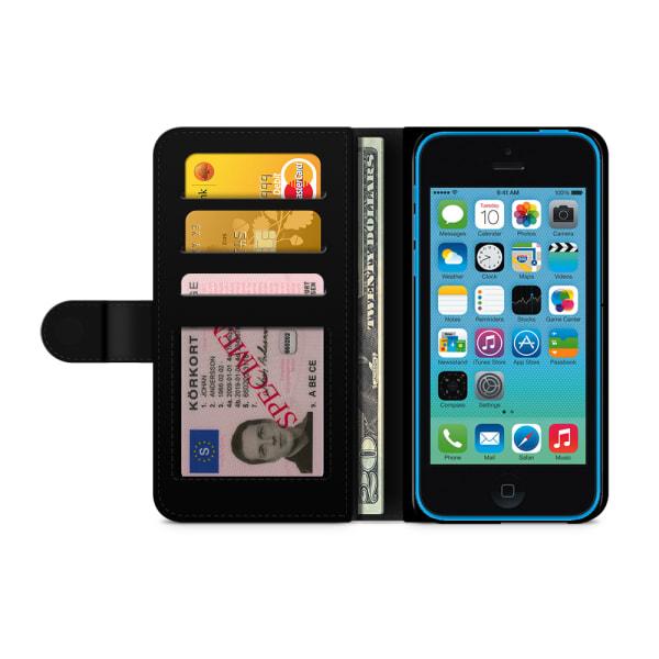 Bjornberry Plånboksfodral iPhone 5C - Retro Glass