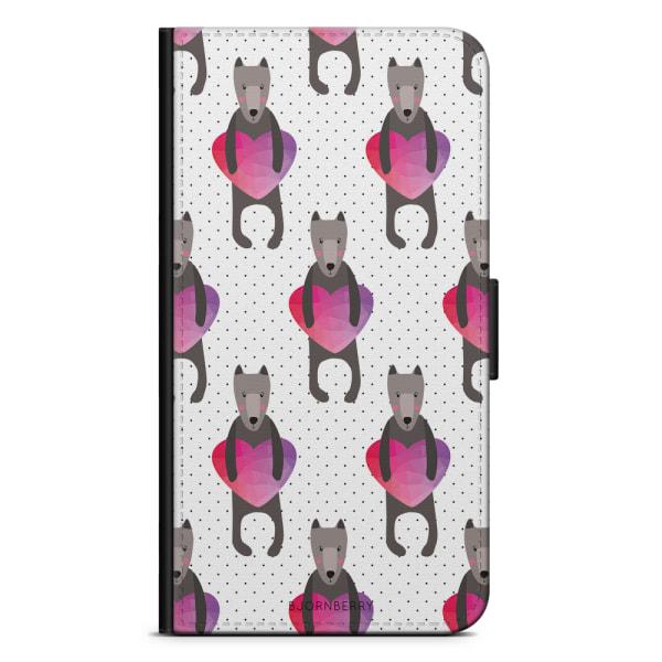 Bjornberry Plånboksfodral iPhone 8 Plus - Hundar & Hjärtan