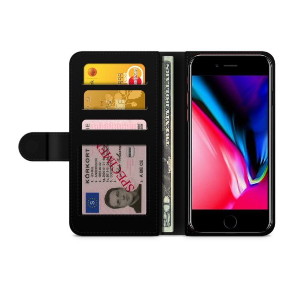 Bjornberry Plånboksfodral iPhone 8 Plus - Louisa