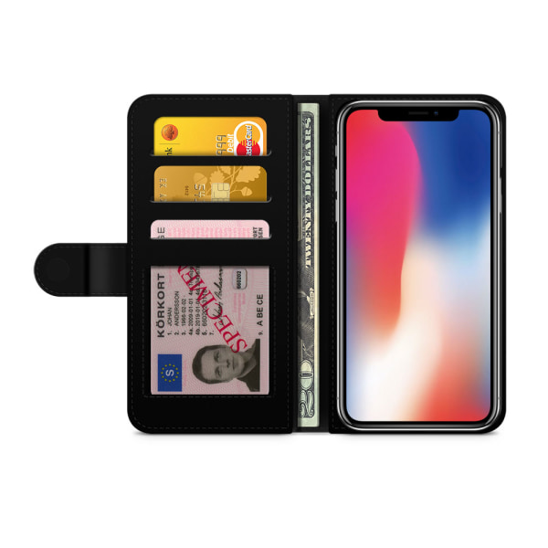 Bjornberry Plånboksfodral iPhone X / XS - Blåbär