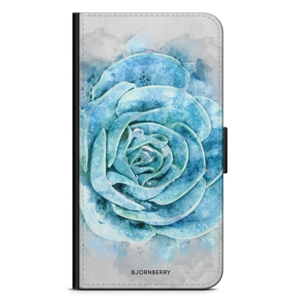 Bjornberry Plånboksfodral iPhone XS MAX - Blå Kaktus