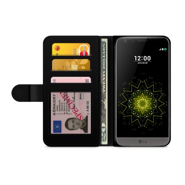 Bjornberry Plånboksfodral LG G5 - Guld Blommor