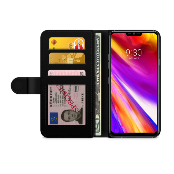 Bjornberry Plånboksfodral LG G7 ThinQ - Drickande Enhörning