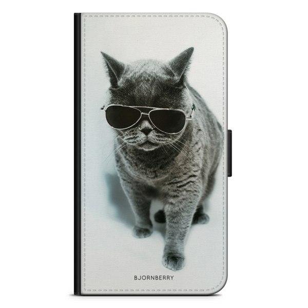 Bjornberry Plånboksfodral Moto G5 - Katt Glasögon