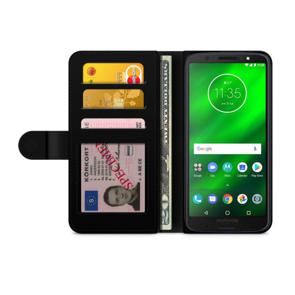Bjornberry Plånboksfodral Motorola Moto G6 -Snäckskal