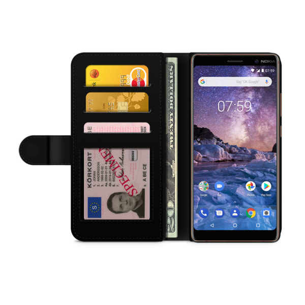 Bjornberry Plånboksfodral Nokia 7 Plus - Shark Attack