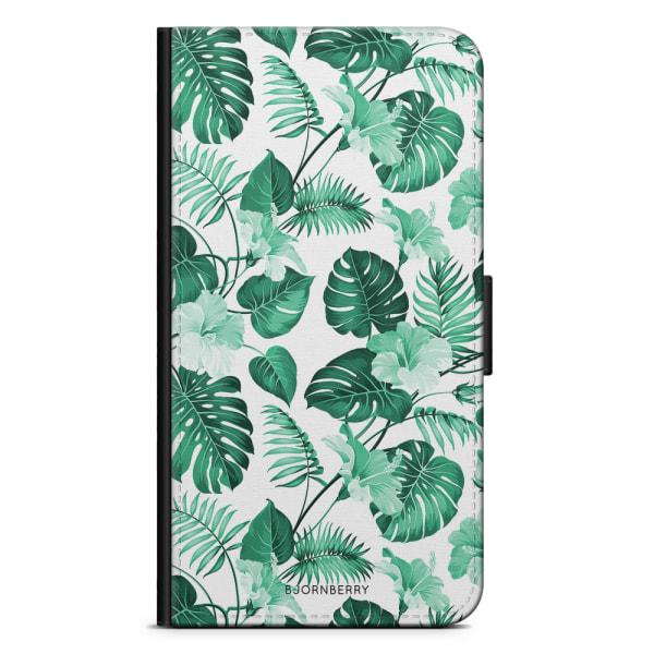 Bjornberry Plånboksfodral OnePlus 6 - Blommor Turkos