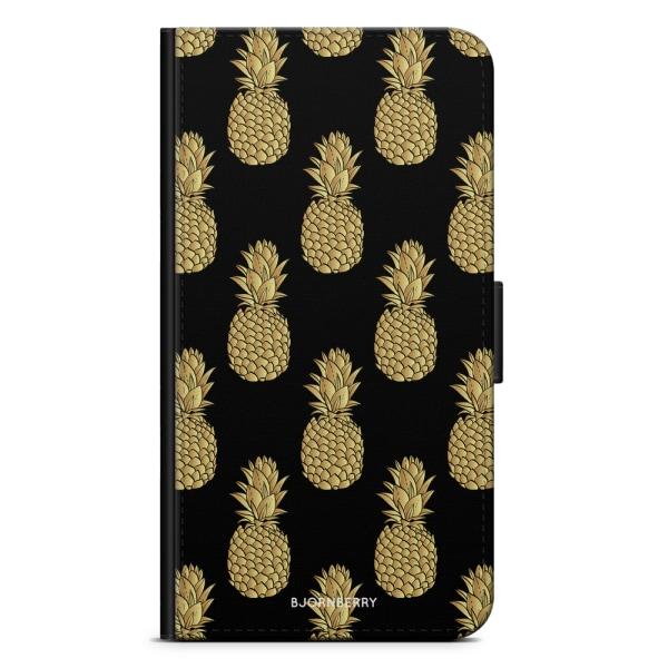Bjornberry Plånboksfodral OnePlus 8 - Guldiga Ananas