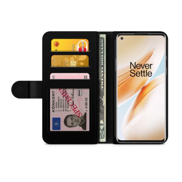 Bjornberry Plånboksfodral OnePlus 8 Pro - Guld Monstera