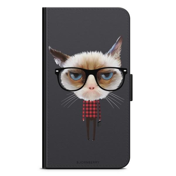 Bjornberry Plånboksfodral OnePlus 8 Pro - Hipster Katt
