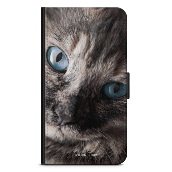 Bjornberry Plånboksfodral OnePlus 8 Pro - Katt Blå Ögon