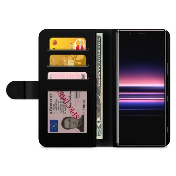 Bjornberry Plånboksfodral Sony Xperia 5 - Brun Marmor