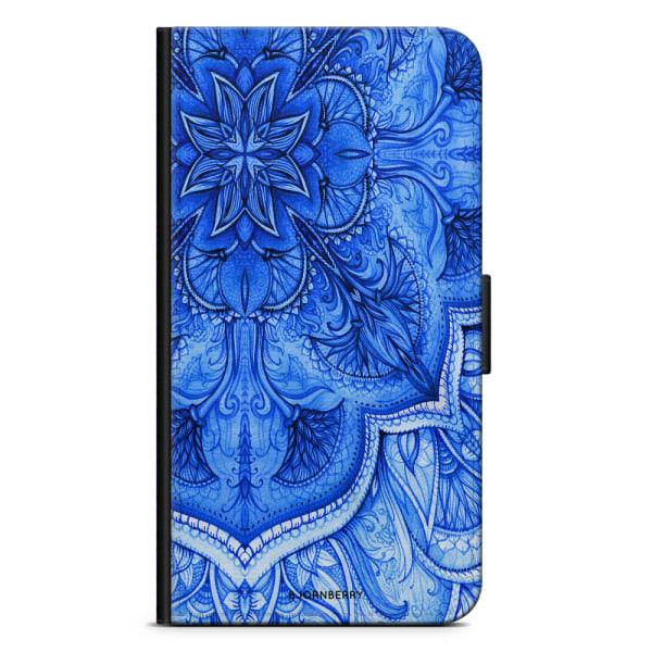 Bjornberry Plånboksfodral Sony Xperia X - Blå Vintage