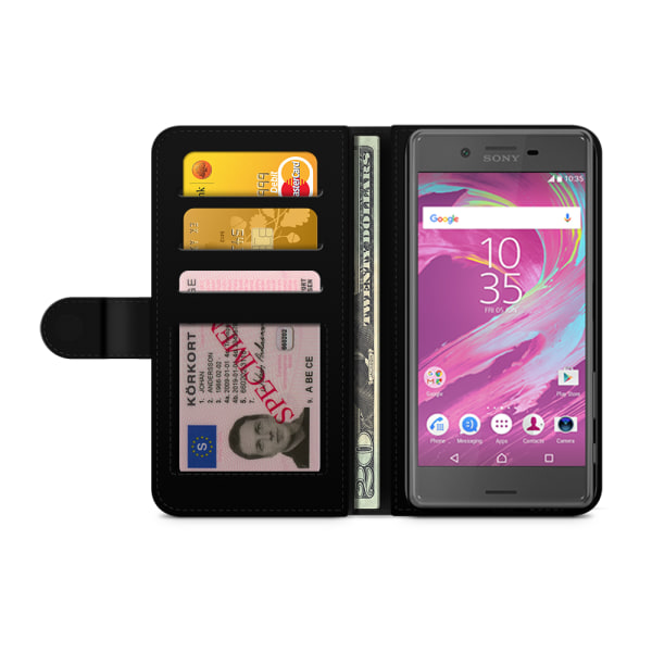 Bjornberry Plånboksfodral Sony Xperia X - Mönster