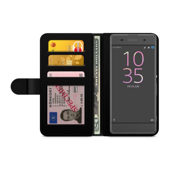 Bjornberry Plånboksfodral Sony Xperia XA - Lila Blommor