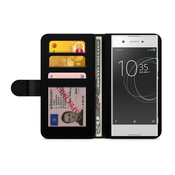 Bjornberry Plånboksfodral Sony Xperia XA1 - Katt & Fisk