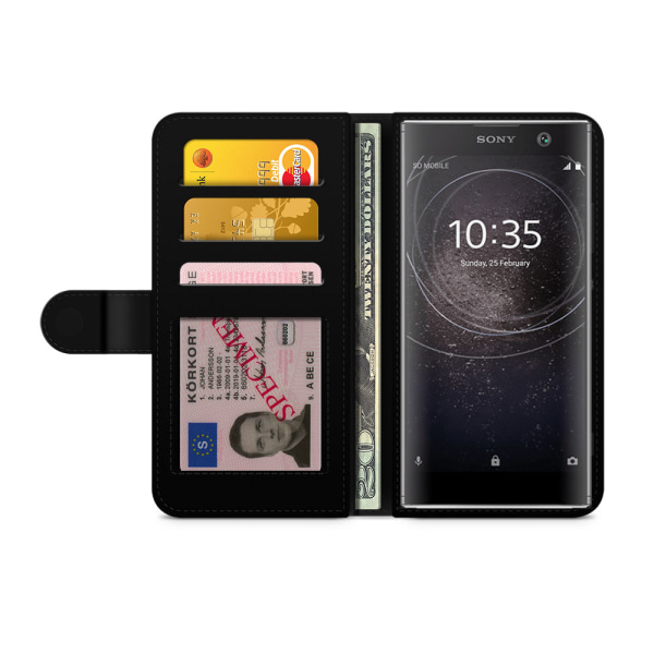 Bjornberry Plånboksfodral Sony Xperia XA2 - Monogram A