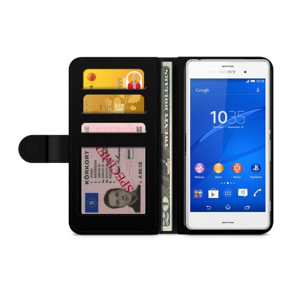 Bjornberry Plånboksfodral Sony Xperia Z3 - Lila Blommor