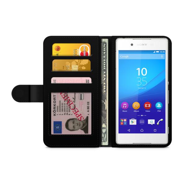 Bjornberry Plånboksfodral Sony Xperia Z3+ - Granatäpple