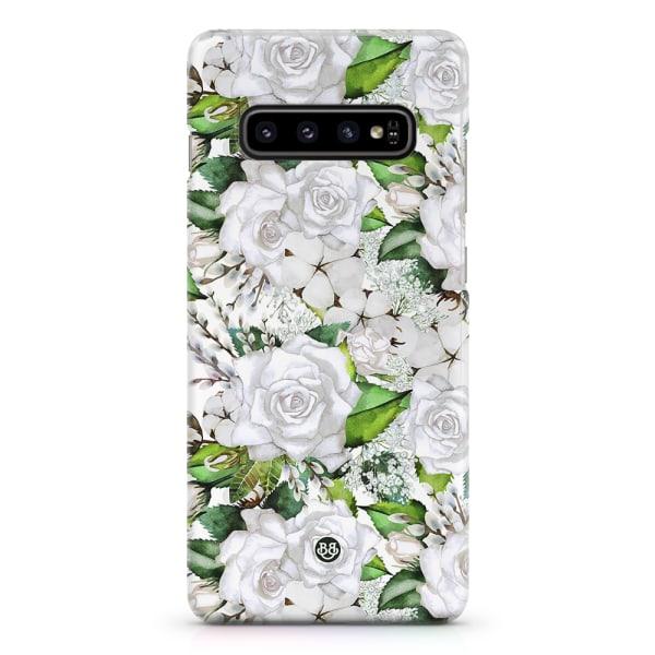 Bjornberry Samsung Galaxy S10 Premiumskal - White Floral