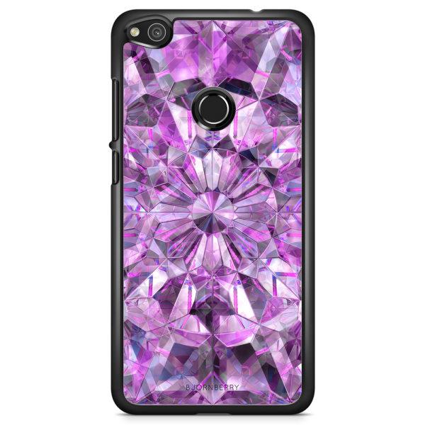Bjornberry Skal Huawei Honor 8 Lite - Lila Kristaller