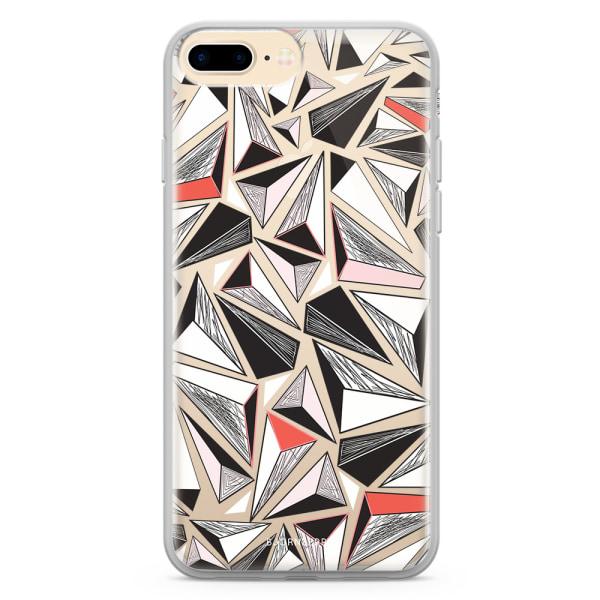 Bjornberry Skal Hybrid iPhone 7 Plus - Triangelmönster