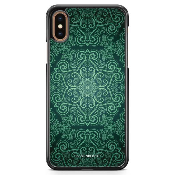 Bjornberry Skal iPhone XS Max - Grön Retromönster