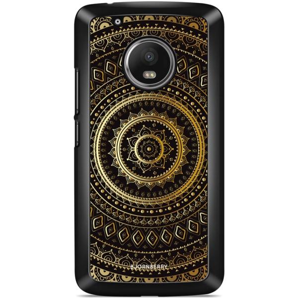 Bjornberry Skal Moto G5 Plus - Guld Mandala