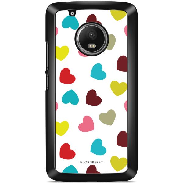 Bjornberry Skal Moto G5 Plus - Hjärtan
