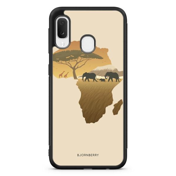 Bjornberry Skal Samsung Galaxy A20e - Afrika Brun