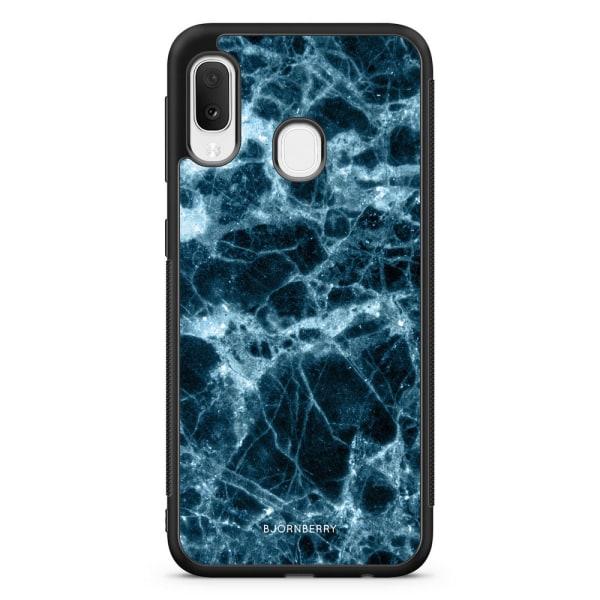Bjornberry Skal Samsung Galaxy A20e - Blå Marmor