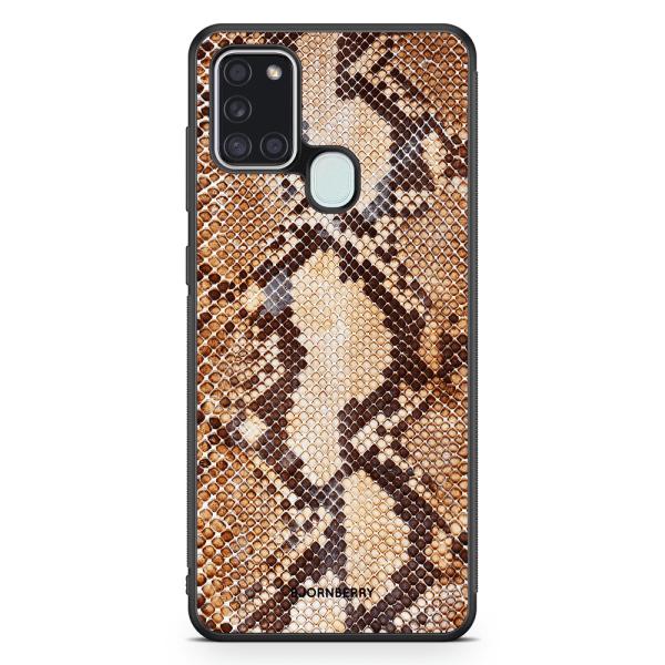 Bjornberry Skal Samsung Galaxy A21s - Brun Ormskinn
