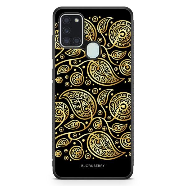 Bjornberry Skal Samsung Galaxy A21s - Guld Blommor