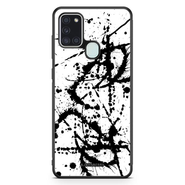 Bjornberry Skal Samsung Galaxy A21s - Svart Färgstänk