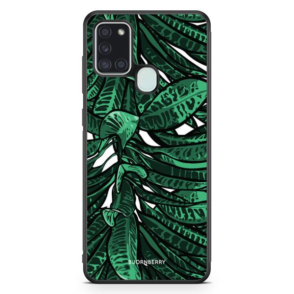 Bjornberry Skal Samsung Galaxy A21s - Tropiska Löv