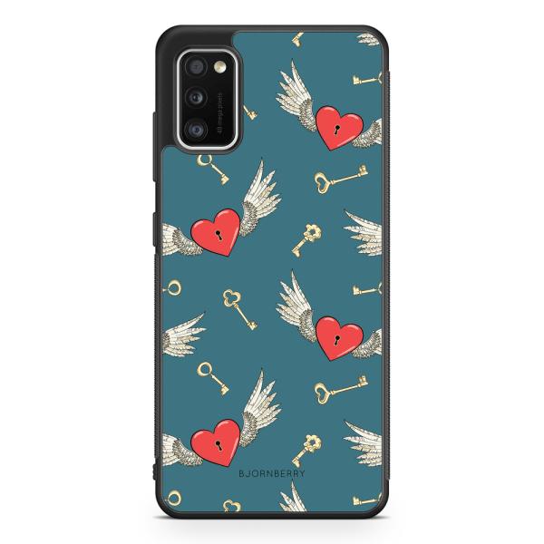 Bjornberry Skal Samsung Galaxy A41 - Hjärtan med Vingar