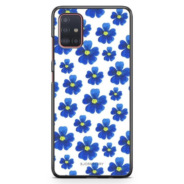 Bjornberry Skal Samsung Galaxy A51 - Blå Blommor