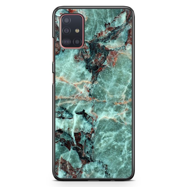 Bjornberry Skal Samsung Galaxy A51 - Grön Marmor