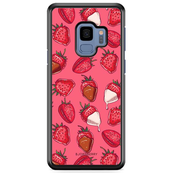 Bjornberry Skal Samsung Galaxy A8 (2018) - Jordgubbschoklad