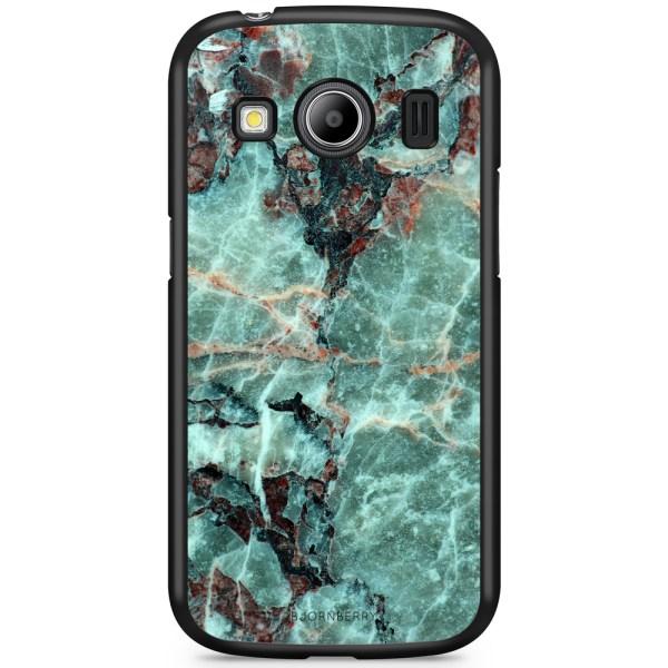 Bjornberry Skal Samsung Galaxy Ace 4 - Grön Marmor