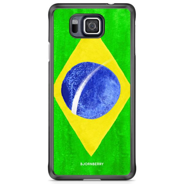 Bjornberry Skal Samsung Galaxy Alpha - Brasiliens Flagga