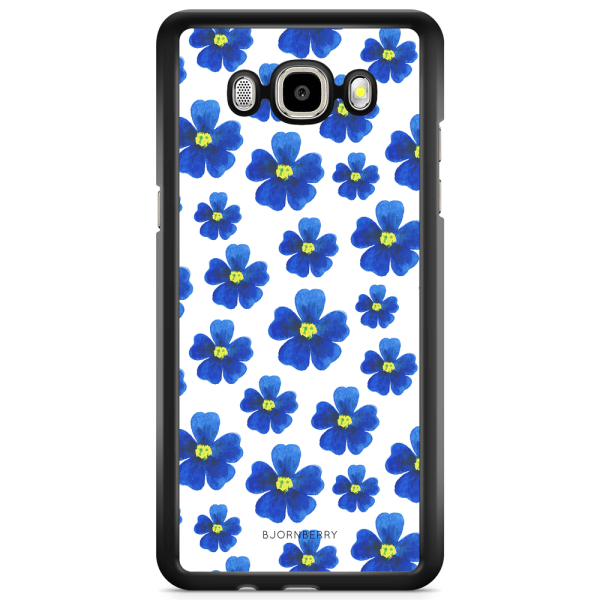 Bjornberry Skal Samsung Galaxy J3 (2016) - Blå Blommor