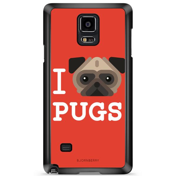 Bjornberry Skal Samsung Galaxy Note 3 - I Love Pugs