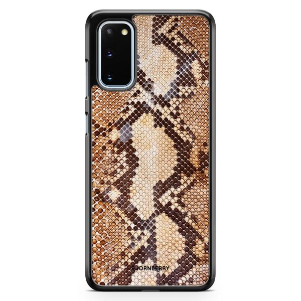 Bjornberry Skal Samsung Galaxy S20 - Brun Ormskinn