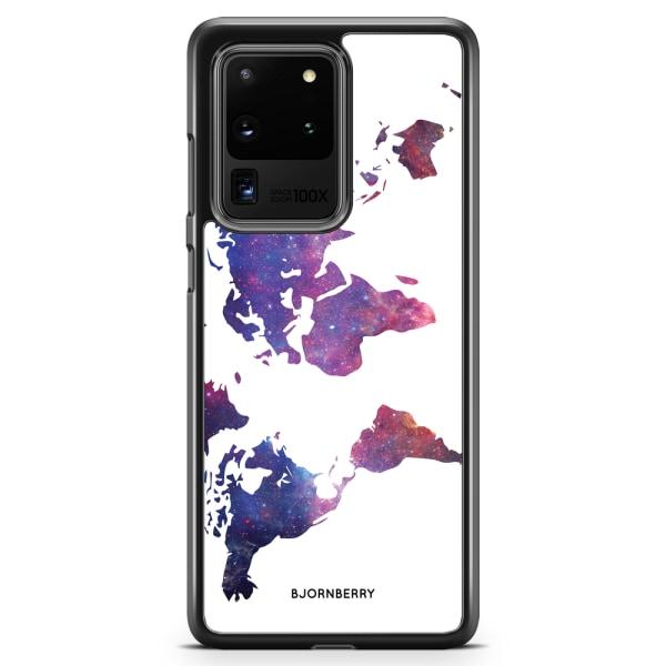 Bjornberry Skal Samsung Galaxy S20 Ultra - Världkarta Rymd
