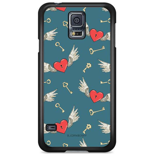 Bjornberry Skal Samsung Galaxy S5/S5 NEO - Hjärtan med Vingar