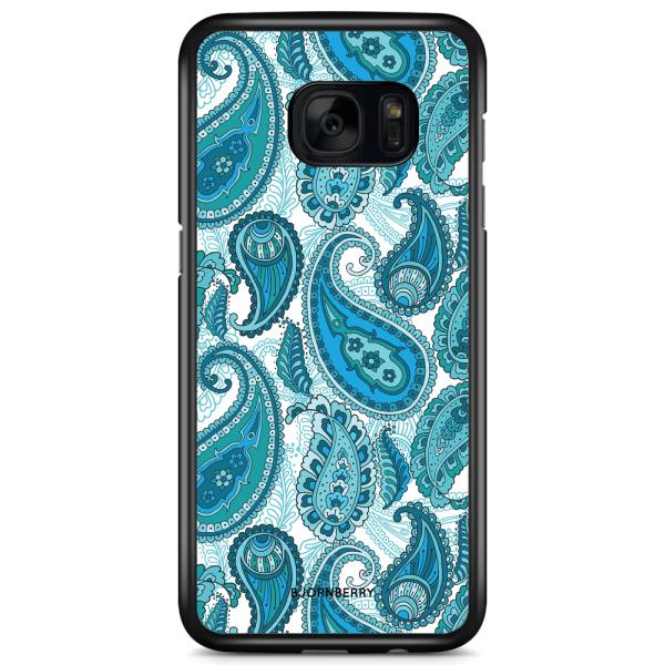 Bjornberry Skal Samsung Galaxy S7 - Blå Paisley
