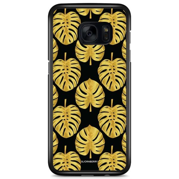 Bjornberry Skal Samsung Galaxy S7 Edge - Guld Monstera