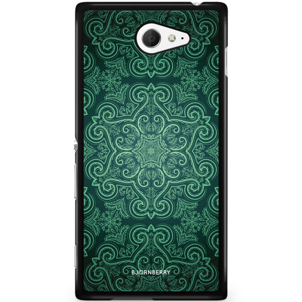 Bjornberry Skal Sony Xperia M2 Aqua - Grön Retromönster